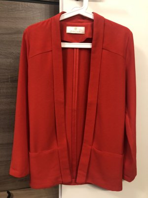 Pieces Boyfriend Blazer red