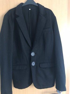 Blazer in jersey nero