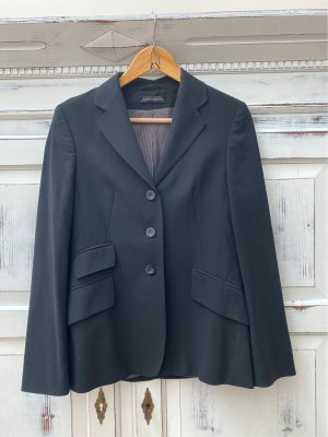 Bernd Berger Long Blazer black cotton