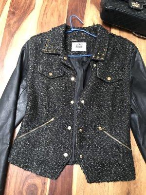 Vero Moda Wool Blazer black-gold-colored
