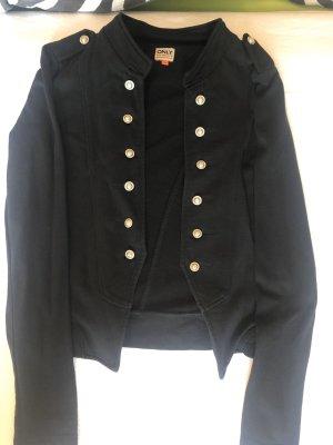 Blazer schwarz mit silber Knöpfen