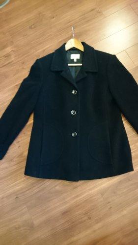 A. D. Collection Veste en laine noir laine vierge