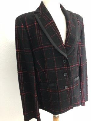 St. emile Blazer in lana nero-rosso mattone