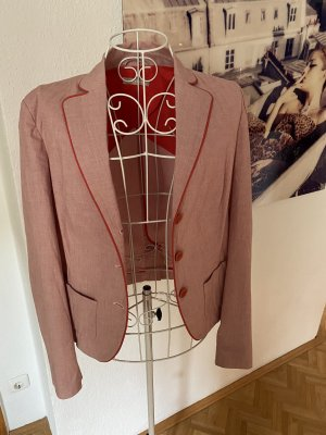 Stefanel Klassischer Blazer stoffig roze-baksteenrood