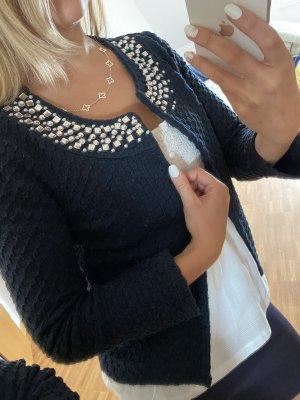 Tweedowa marynarka ciemnoniebieski-srebrny