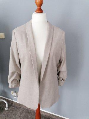 H&M Blazer en tweed beige clair-beige
