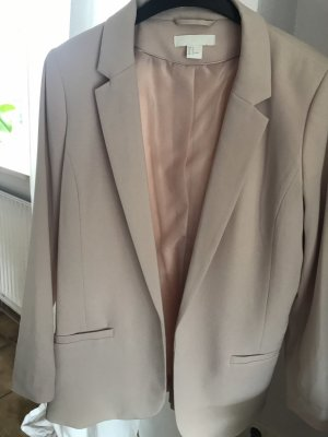 H&M Blazer largo beige claro