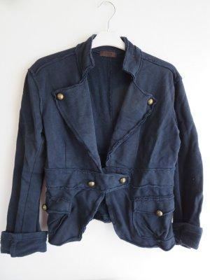 POIS Blazer sweat bleu foncé coton