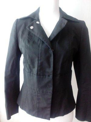 Blazer tailliert Made in Italy schwarz elegant