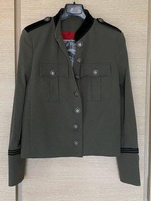 The Kooples Gebreide blazer khaki-groen-grijs