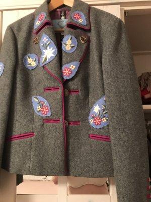 Escada Blazer in lana argento