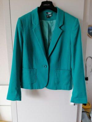 H&M Divided Blazer corto turchese-blu cadetto