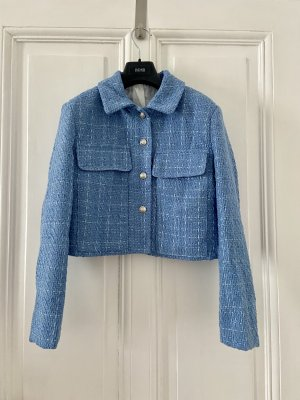 Blazer en tweed bleu azur