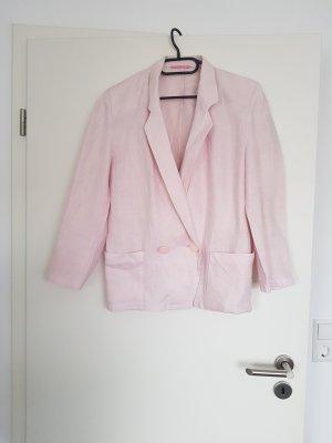 Blazer Überzieher leichte Jacke aus Leinen in hell rosa von Rosner