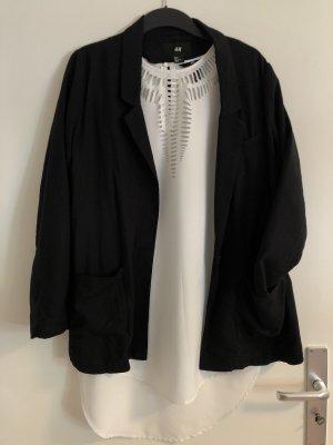 H&M Blazer stile Boyfriend nero-bianco