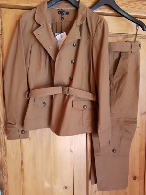 Apart Short Blazer light brown cotton