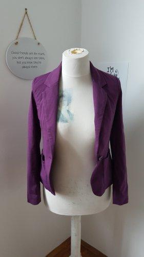 Fishbone Blazer unisex viola scuro