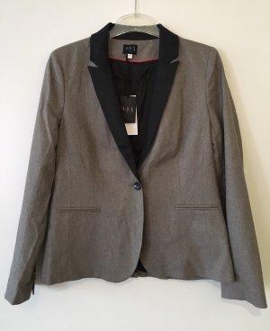 1.2.3 Paris Blazer en laine gris brun-gris anthracite