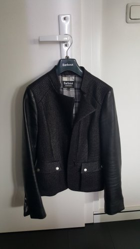 Barbour Leather Blazer black leather