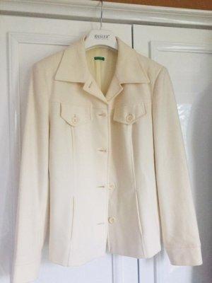 Benetton Blazer in lana bianco sporco-crema