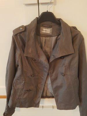Bershka Blazer in jeans grigio-marrone-grigio