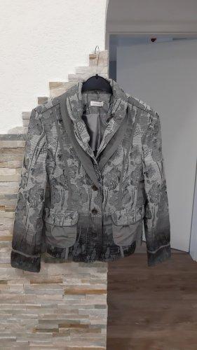 Bonita Blazer en tweed gris clair-gris