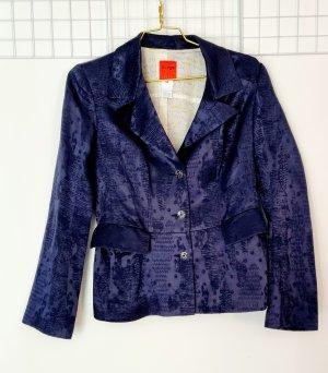 Christian Lacroix Klassischer Blazer silver-colored-dark blue cotton