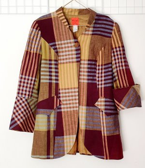 Christian Lacroix Long Blazer multicolored linen