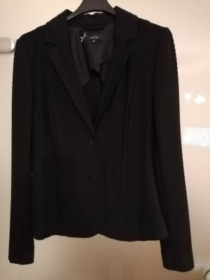 Comma Blazer in jersey nero