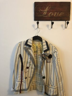 Blazer von Desigual, viele Details, gestreift, Größe 42