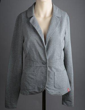 edc by Esprit Sweat Blazer dark grey-grey mixture fibre
