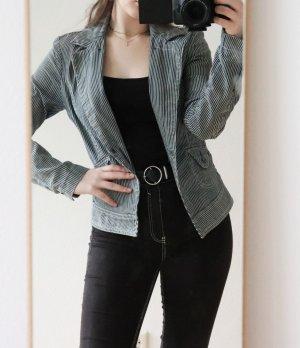 Guess Blazer in jeans bianco-blu scuro
