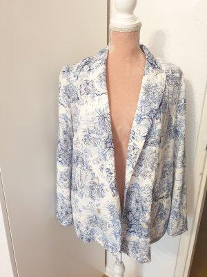 H&M Blazer stile Boyfriend bianco-blu