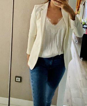 H&M Blazer de esmoquin crema-blanco puro
