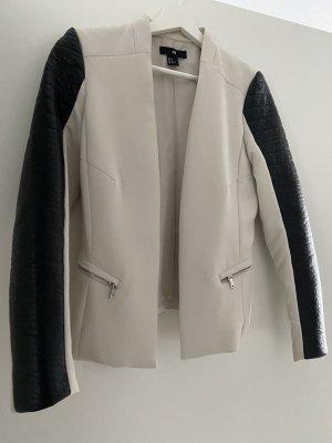H&M Leren blazer room-zwart