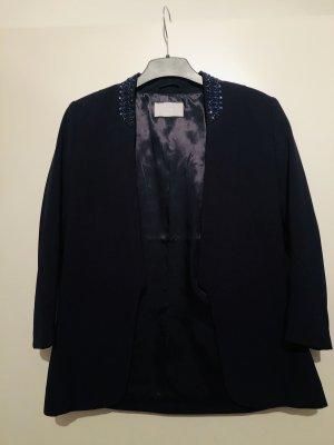 H&M Blazer de esmoquin azul oscuro