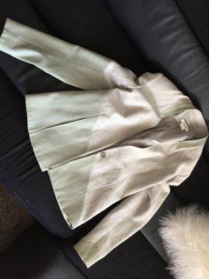 Helmut Lang Leren blazer grijs-groen-lichtgrijs