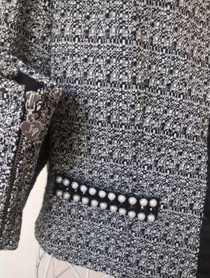 Lipsy Blazer en tweed noir-blanc