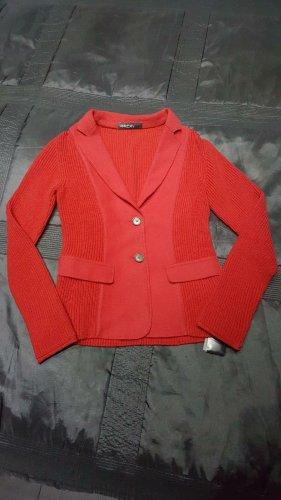 Marc Cain Blazer in maglia rosso scuro-carminio