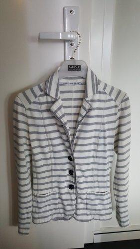 marc cain sports Jersey Blazer blanco-gris claro