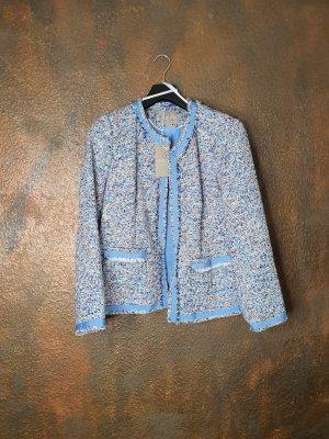 Mona Tweed Blazer light blue