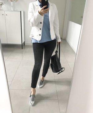 Mustang Blazer in jeans bianco