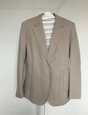 René Lezard Blazer de lana marrón grisáceo