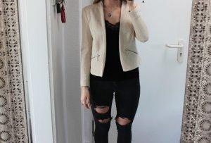 Vero Moda Blazer in jeans color carne-crema