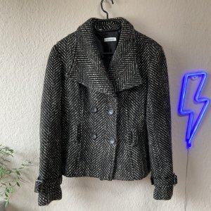 Yessica Blazer en maille tricotée gris brun-taupe