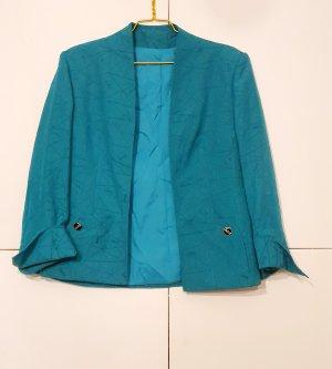 Yves Saint Laurent Wool Blazer petrol-cadet blue mixture fibre