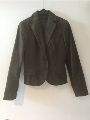Tuxedo Blazer green grey-forest green cotton
