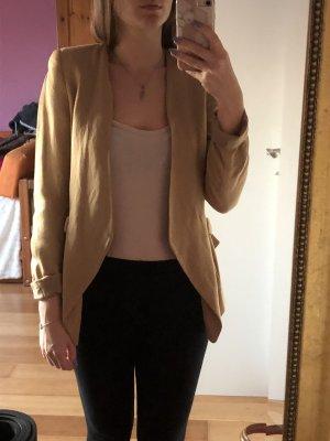 Zara Basic Blazer in maglia beige