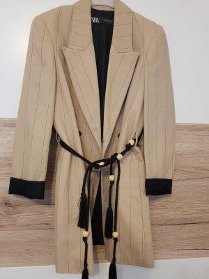 blazer von Zara beige leinen