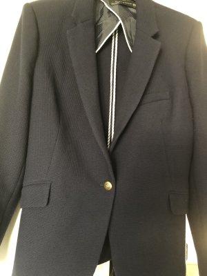 Zara Blazer de lana azul oscuro